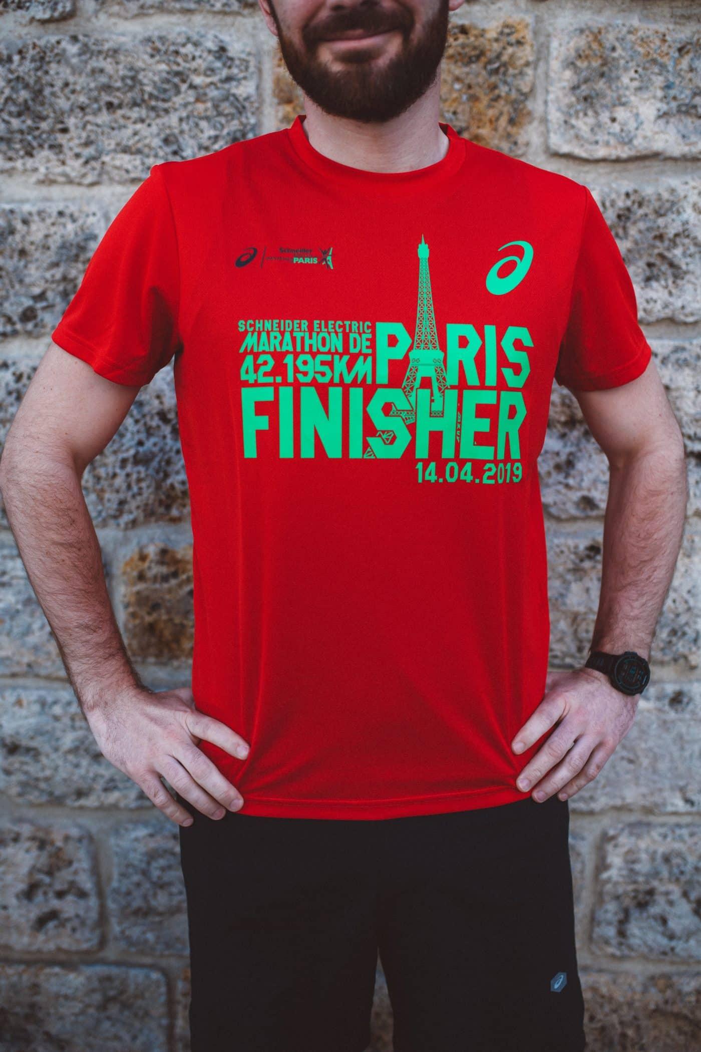 Tenue Asics pour le marathon de Paris