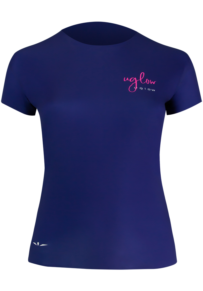 Uglow-collection-capsule-1-t-shirt-femme-Super-Speed-AERO-bleumarine