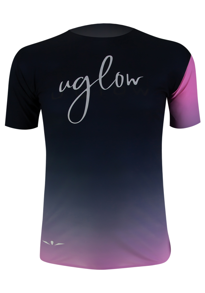 Uglow-collection-capsule-1-t-shirt-homme-Super-Speed-AERO-degradé-rose