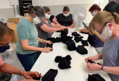 Image de l'article La Chaussette de France s'adapte en produisant des masques