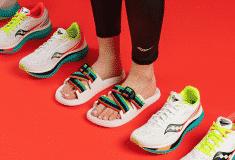 Image de l'article Saucony complète sa collection Endorphin… avec une paire de claquettes pour la récupération!