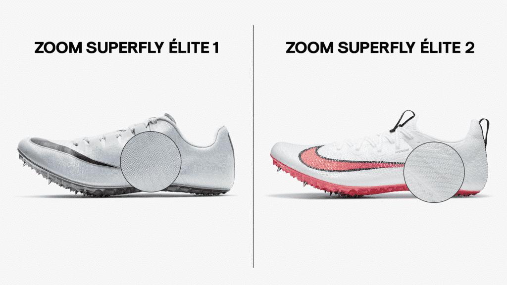 Comparaison-Nike-Zoom-Superfly-Élite-1-2-empeigne