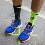 runpack teste les chaussettes Rock&Run de LCF et Yoann Stuck