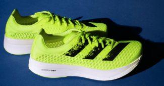Image de l'article Nouveau coloris Sunrise Bliss à venir pour la adizero adios pro d'adidas