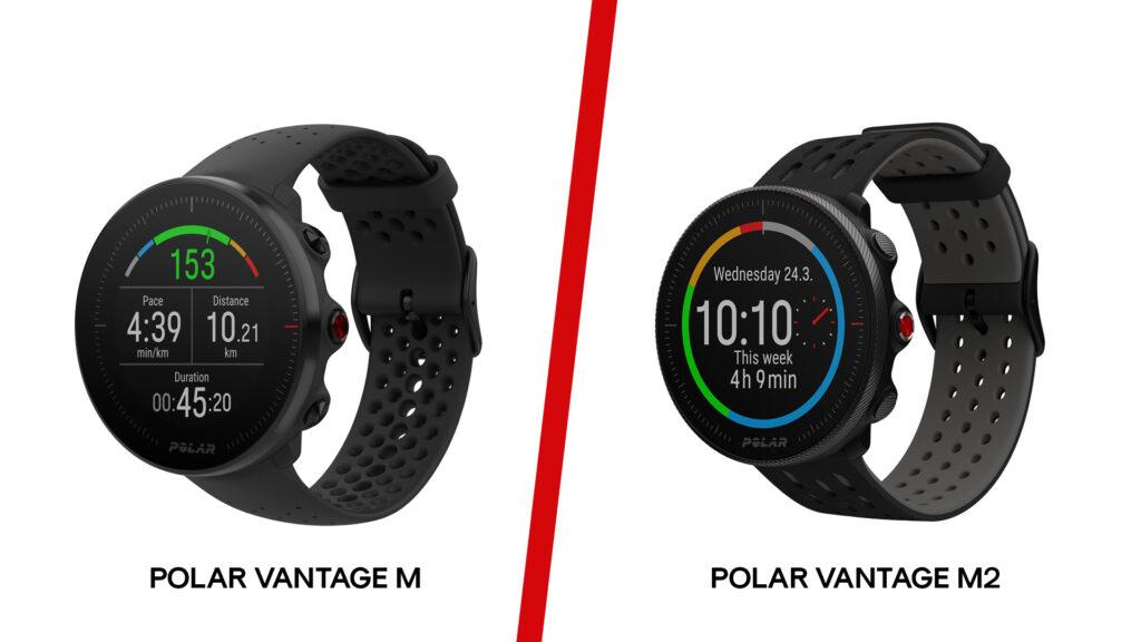 différence polar vantage M et polar vantage m2