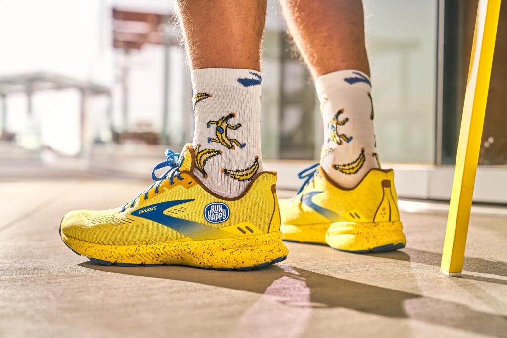 Brooks Launch 8 collection Run Happy Banane