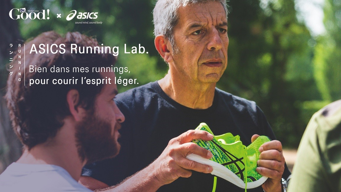 asics running lab michel cymes