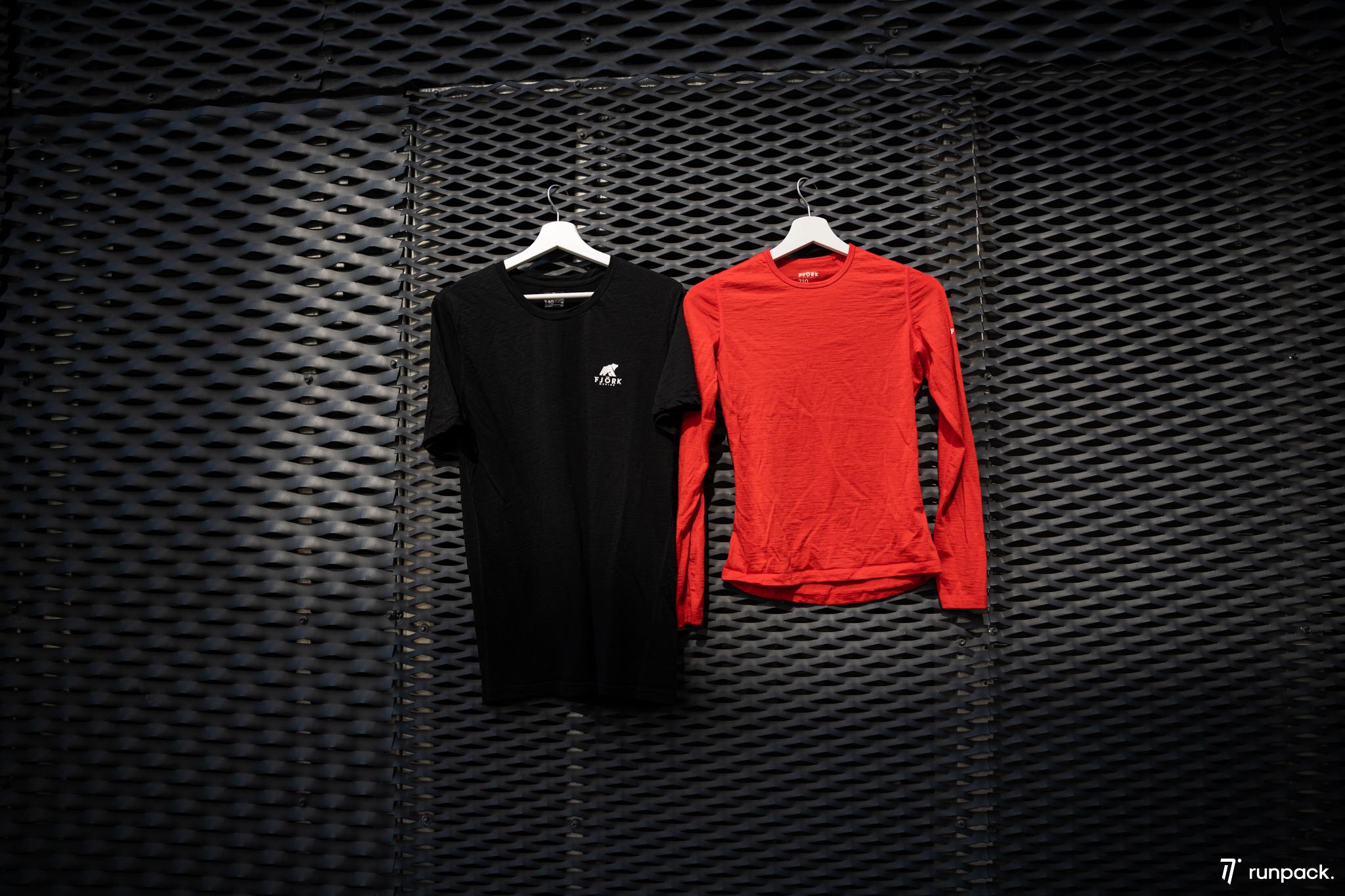 test tshirt fjork merinos runpack
