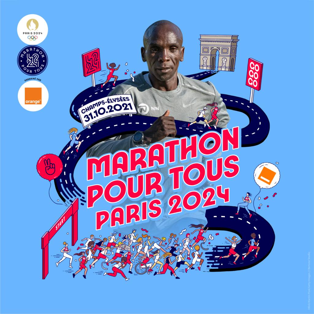 Paris 2024 Marathon Pour Tous Eliud Kipchoge